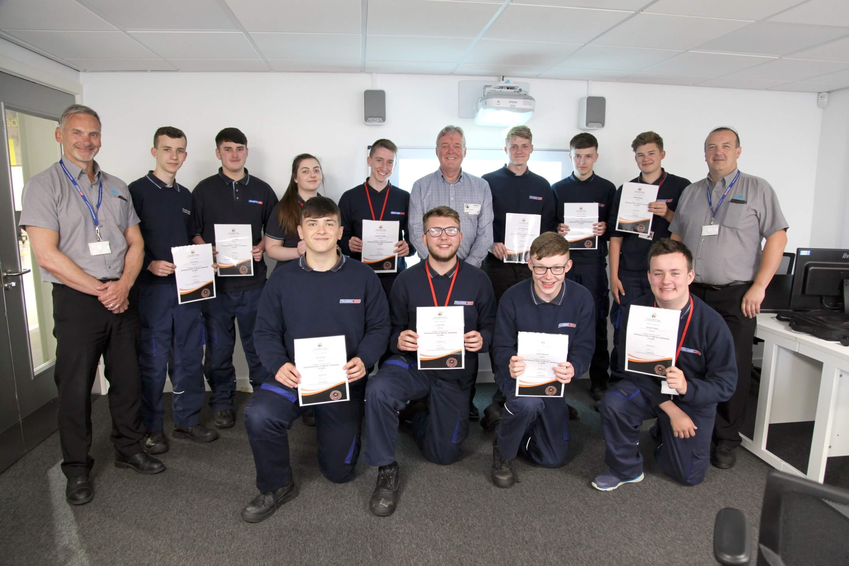 Steve Mayo with Training 2000 Engineering Apprentices